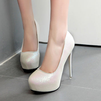 High Heel Crystal Water Proof Waterproof Shoes = 4804973444