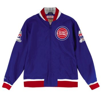 Detroit Pistons Mitchell & Ness Team History Warm Up Jacket