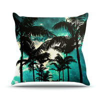 "Caleb Troy ""Palm Trees & Stars"" Outdoor Throw Pillow"