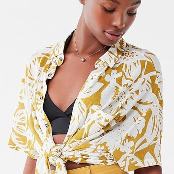 UO Noah Longline Button-Down Shirt | Urban Outfitters