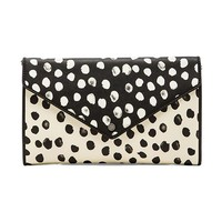 Marc by Marc Jacobs Metropoli Deelite Dot Envelope Clutch in Black