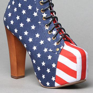 Jeffrey Campbell The Lita Shoe in Stars and Stripes : Karmaloop.com - Global Concrete Culture