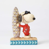 Jim Shore Peanuts Joe Cool Snoopy with Surfboard Resin Figurine New with Box