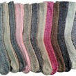 12 Pairs Of excell Womens Extreme Weather Collection Premium Wool Thermal Socks