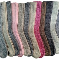 12 Pairs Of excell Womens Extreme Weather Wool Boot Socks Size 9-11