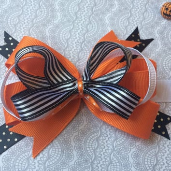 Halloween stacked bow