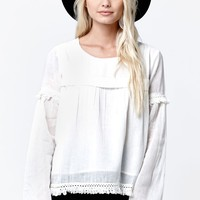Volcom Lost Highway Long Sleeve Top - Womens Shirts - White