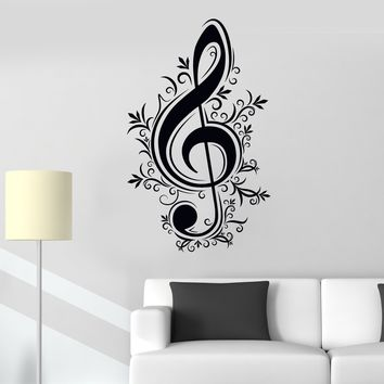 Vinyl Wall Decal Music Notes Musician Melody Music School Shop Stickers Unique Gift (719ig)