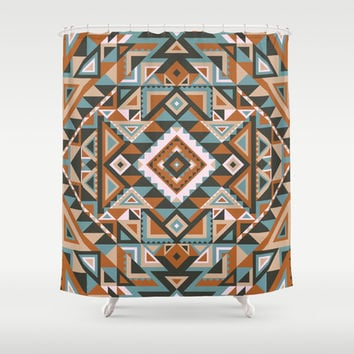 Native Shower Curtain by nate duval