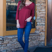 Need To Know Basis Top, Burgundy