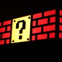 Colorful Mario Question Mark Block Lamp - Nintendo roots