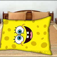"""Spongebob Face - 20 """" x 30 """" inch,Pillow Case and Pillow Cover."""