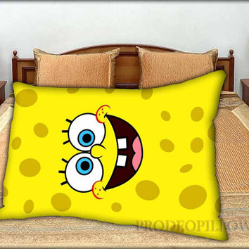 "Spongebob Face - 20 "" x 30 "" inch,Pillow Case and Pillow Cover."