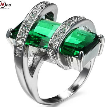 Elegant white old Filled CZ Ring Vintage Wedding Rings For Women amethyst Christmas Eve ift Fashion Jewelry