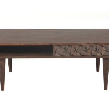 Pablo 2 Drawer Coffee Table Solid Sheesham Wood