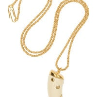 Aurélie Bidermann | Caftan Moon gold-plated resin necklace | NET-A-PORTER.COM