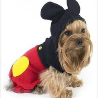 "Mouse ""Mickey"" Costume For Dogs - Size 6 (16"" l x 20.5"" - 23.25"" g)"