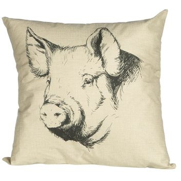 Ginny McCormack Cottage Pillow Pig