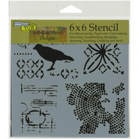 """Crafter's Workshop Template 6""""""""X6""""""""-Raven Mosaic"""