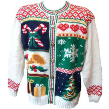Ugly Christmas Sweater Chosen at Random Tacky XMAS by MyPartyShirt