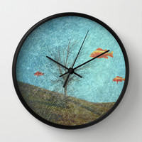 Do Fishes Dream? Wall Clock by ARTsKRATCHES