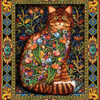 """Jigsaw Puzzle 1000 Pieces 24""""X30""""-Tapestry Cat"""