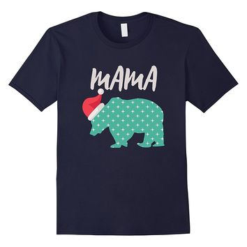 Matching Family Christmas Pajamas - Mama Bear Santa Shirt