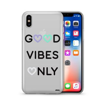 Good Vibes Only - Clear TPU Case Cover