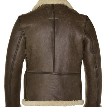 Schott Nyc  Men's Shearling Leather Jacket  Made In Usa #2B6C