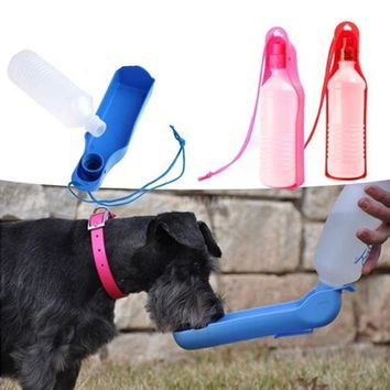 ICIKU7Q water dog cat feeding bottle travel portable automatic dispenser products for dogs mascotas