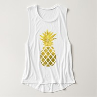 Gold Pineapple Tank Top