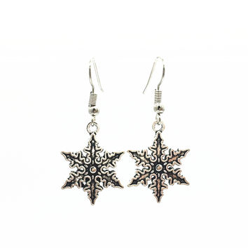 Peace snowflake anchors hand triangle dolphin drop earrings dangling earrings for women jewelry