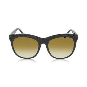 ONETOW balenciaga designer sunglasses ba0024 04f black rubber acetate cat eye sunglass