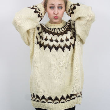 Vintage Thick Wool Nordic Sweater