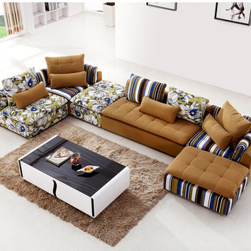 U-BEST Sectionals Couch Chaise Corner Couches,European style home use living room fabric  furniture sofa set
