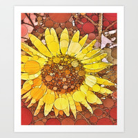 :: Sunflower Wishes :: Art Print by :: GaleStorm Artworks ::