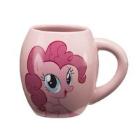 Vandor 42161 My Little Pony Pinkie Pie 18 oz Oval Ceramic Mug, Pink