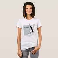 Penguin on Vacation Funny Cute Illustration T-Shirt