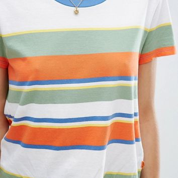 Levi's Orange Tab 70s Stripe T-Shirt at asos.com