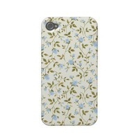 Spring Vintage Blue Roses Iphone 4 Cases from Zazzle.com