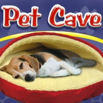 Pet Parade Pet Cave Dog Bed (Red Round) by WMU