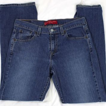 Levis Womens 515 Nouveau Boot Cut Stretch Jeans Size 8 M Blue Denim