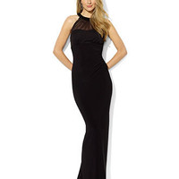 Lauren Ralph Lauren Dress, Sleeveless Mesh Beaded Gown - Womens Dresses - Macy's