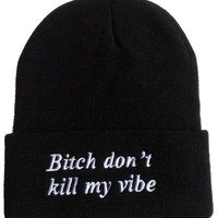 Beanie - Bitch - Snapbacks & Beanies - Women - Modekungen