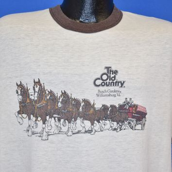 80s Busch Gardens Old Country Budweiser t-shirt Large