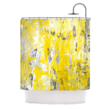 "CarolLynn Tice ""Picking Around"" Yellow Shower Curtain"