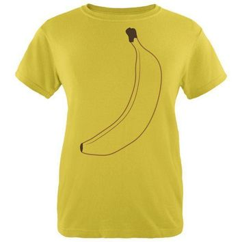 ESBGQ9 Halloween Fruit Banana Costume Womens T Shirt