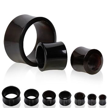 Black Buffalo Horn Flesh Tunnel Plug