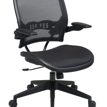 Office Star Deluxe AirGrid® Seat and Back Chair with Cantilever Arms [13-77N1P3]