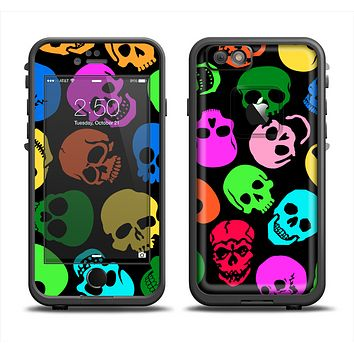 The Vivid Vector Neon Skulls Apple iPhone 6 LifeProof Fre Case Skin Set